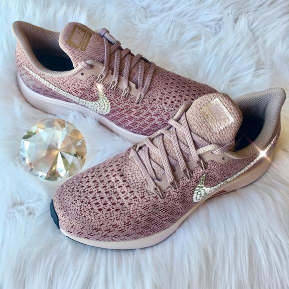 95d52d214fdb1 Bling Nike Pegasus 35 Shoes w/ Swarovski Crystals Boutique